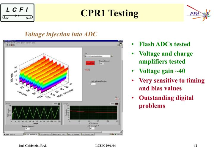 CPR1 Testing