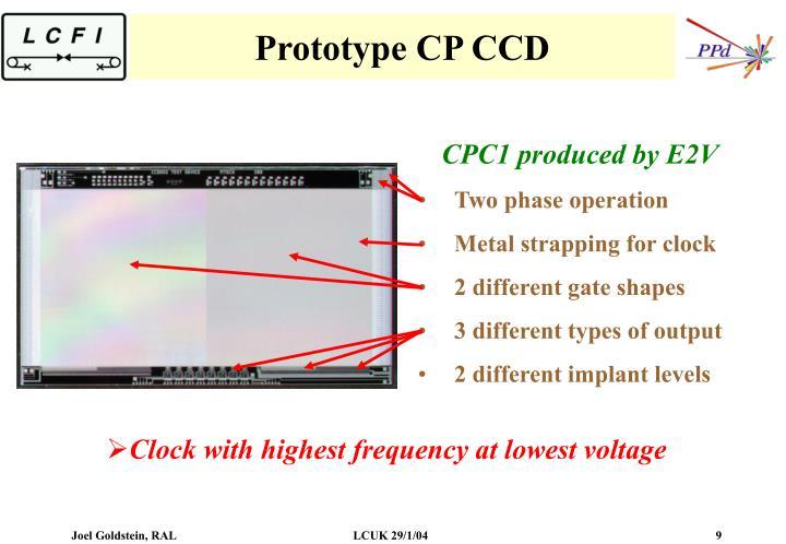 Prototype CP CCD