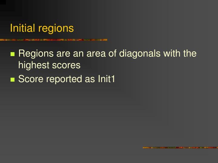 Initial regions