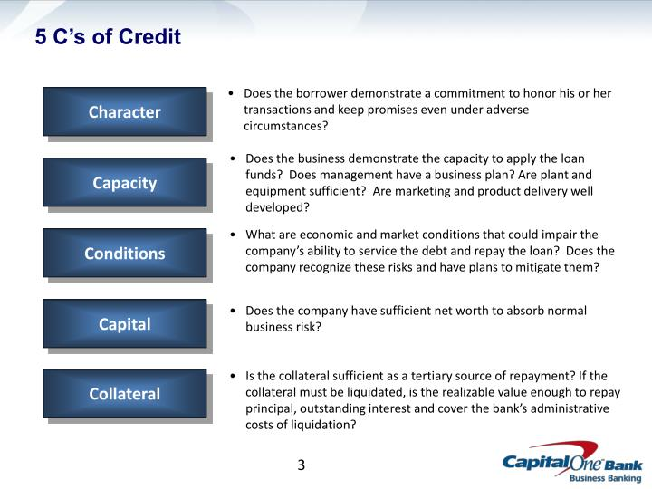 5 c s of credit
