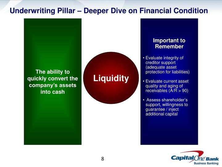 Underwriting Pillar – Deeper Dive on Financial Condition