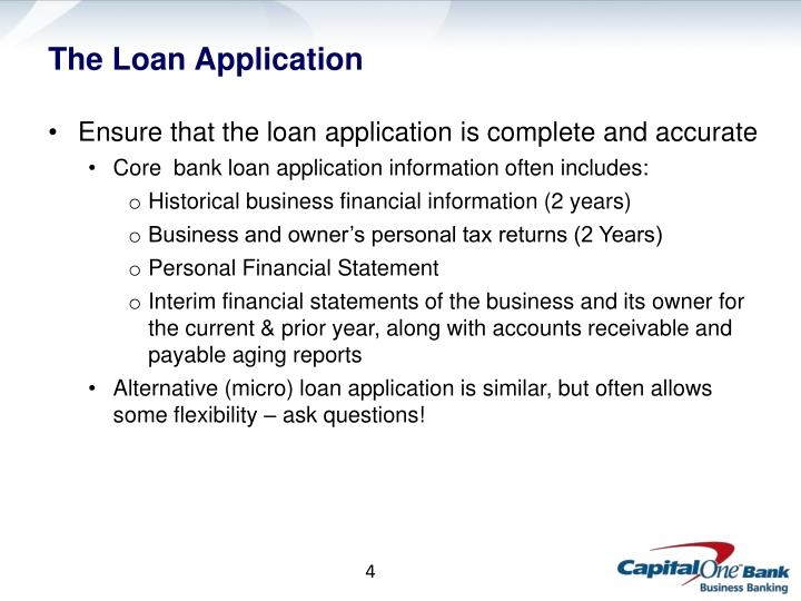 The Loan Application