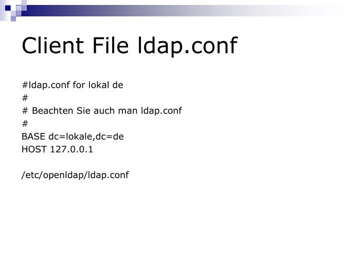 Client File ldap.conf