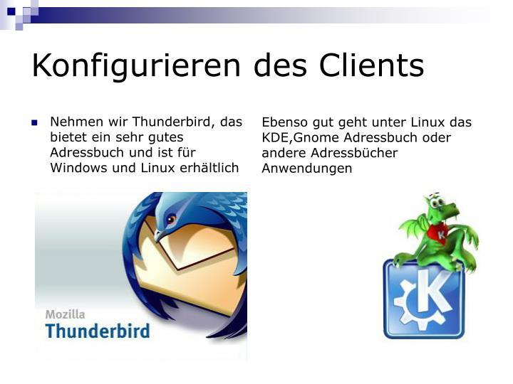 Konfigurieren des Clients