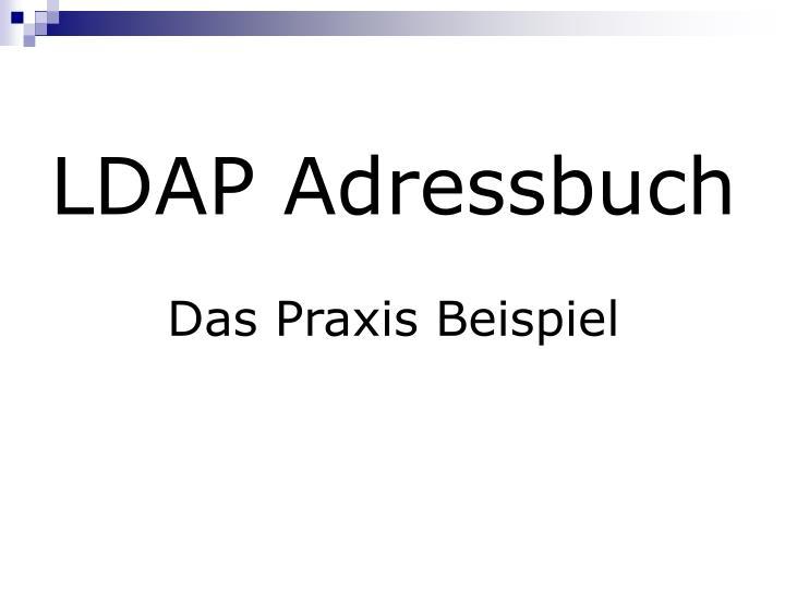 LDAP Adressbuch