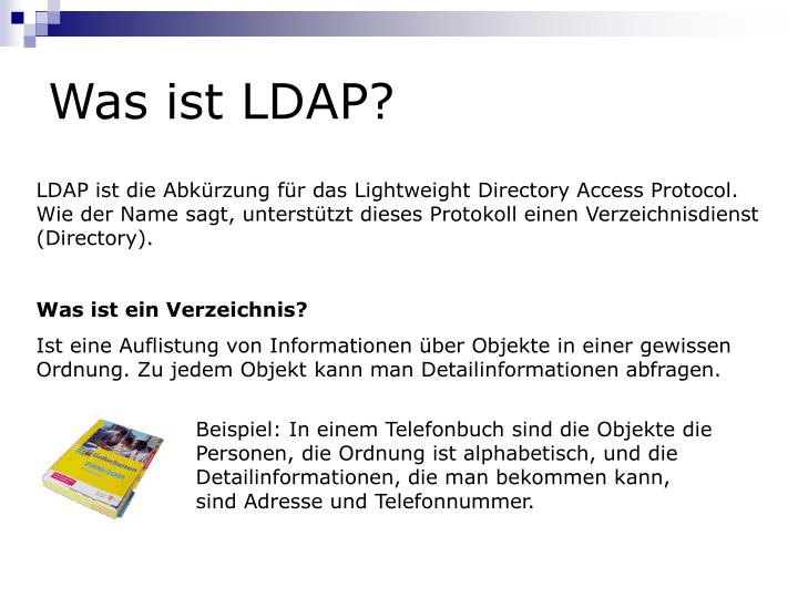 Was ist LDAP?