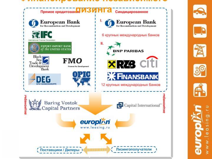 Финансирование независимого лизинга