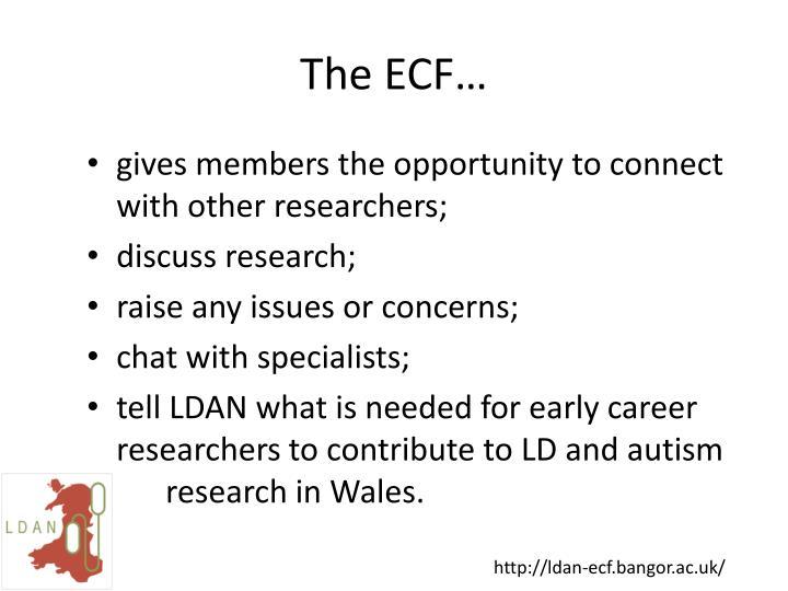 The ECF…