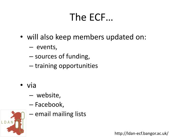 The ECF…