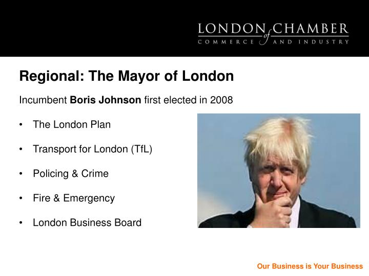 Regional: The Mayor of London