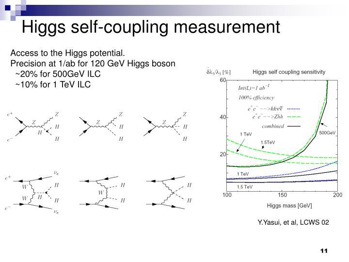 Higgs self-coupling measurement