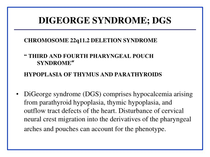 DIGEORGE SYNDROME; DGS