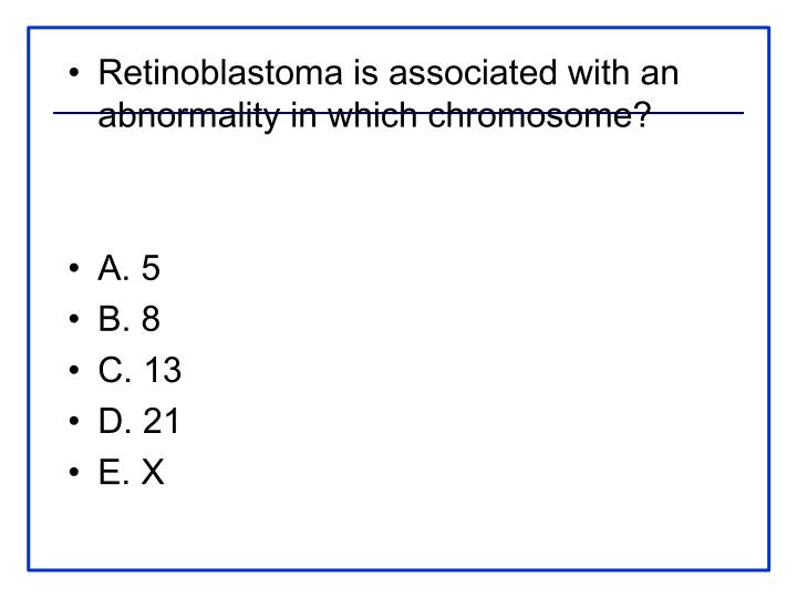 Retinoblastoma is associated with an abnormality in which chromosome?