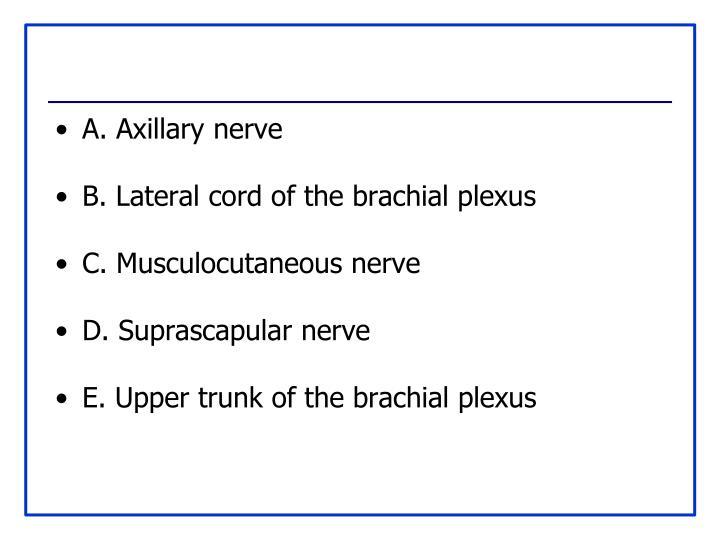 A. Axillary nerve