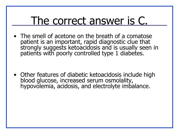 The correct answer is C.
