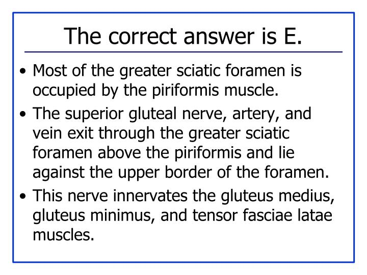 The correct answer is E.
