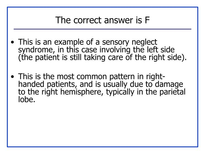 The correct answer is F