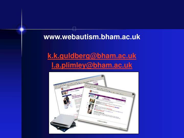 www.webautism.bham.ac.uk