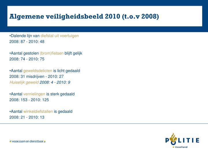 Algemene veiligheidsbeeld 2010 (t.o.v 2008)