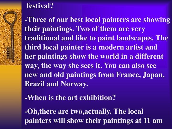 festival?