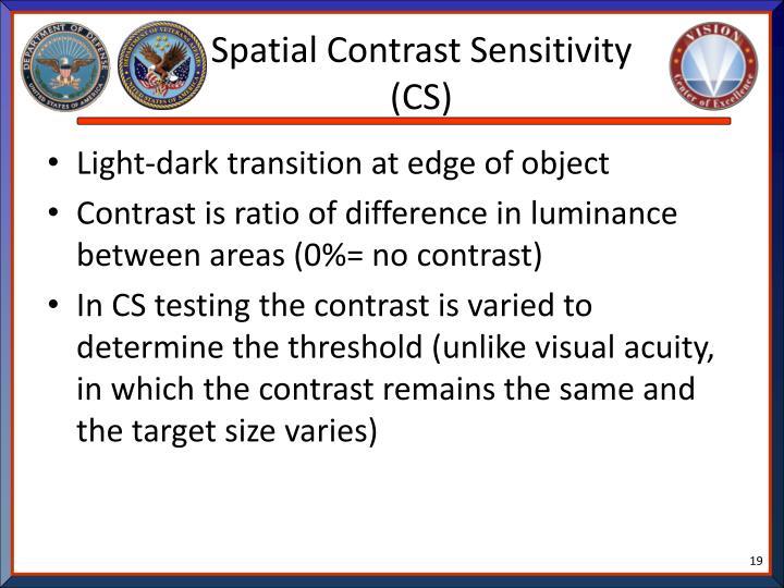 Spatial Contrast Sensitivity (CS)