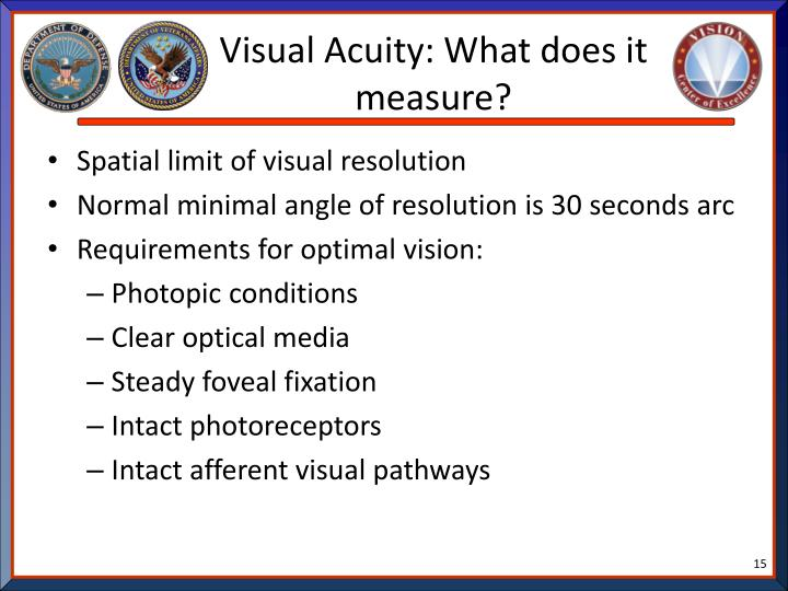 Visual Acuity: What does it measure?