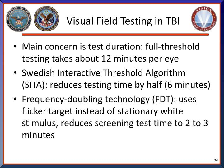 Visual Field Testing in TBI