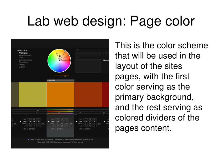 Lab web design: Page color
