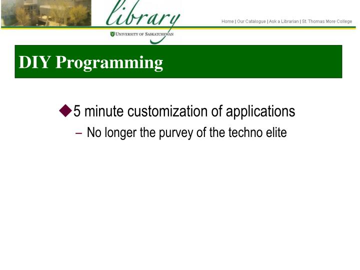 DIY Programming