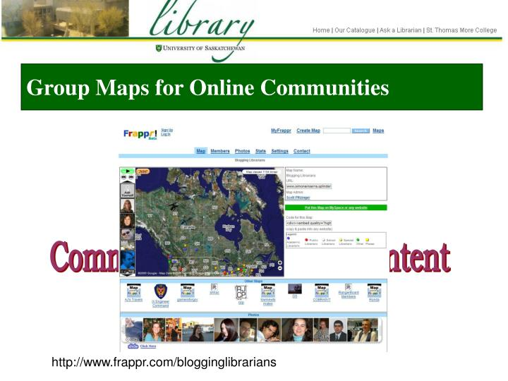 Group Maps for Online Communities