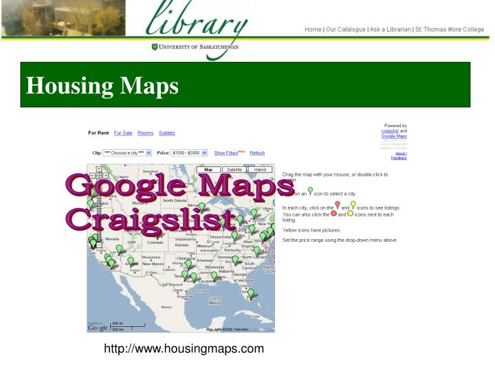 Housing Maps