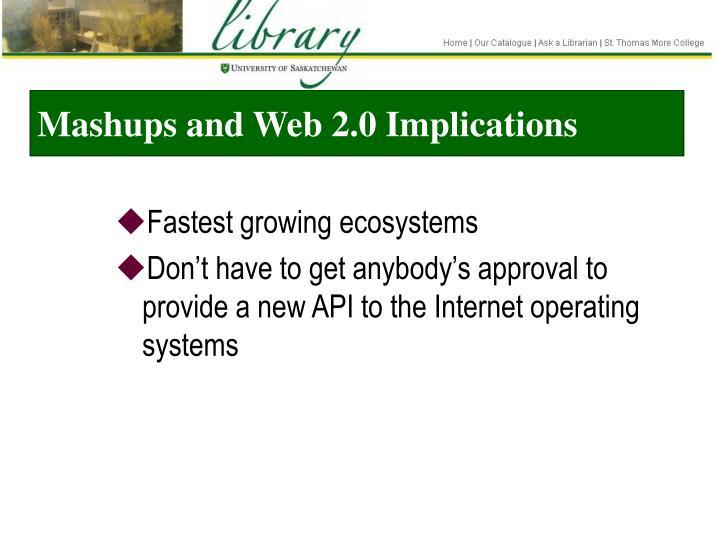 Mashups and Web 2.0 Implications