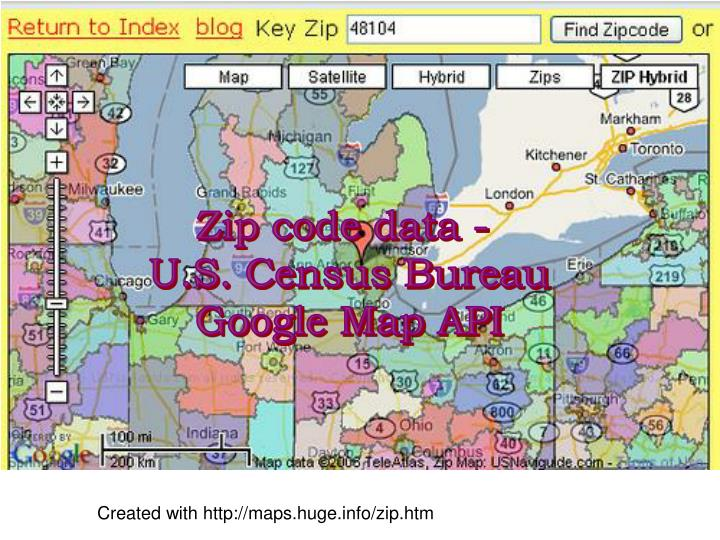 Zip code data -