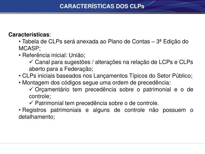CARACTERÍSTICAS DOS CLPs