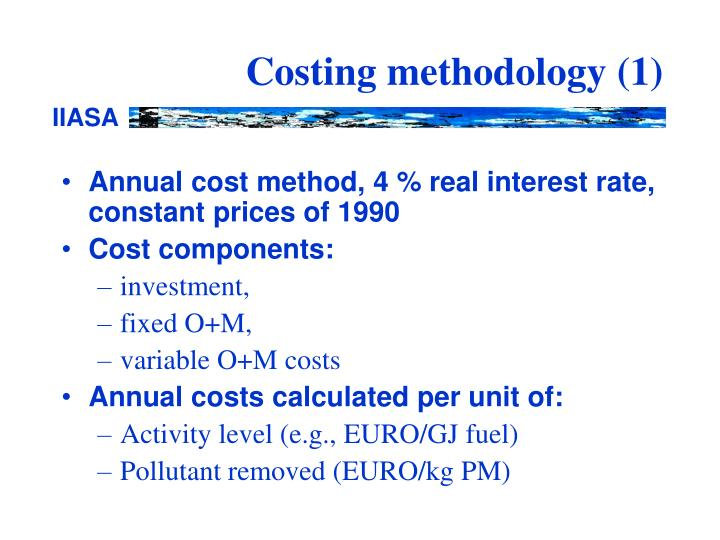 Costing methodology 1