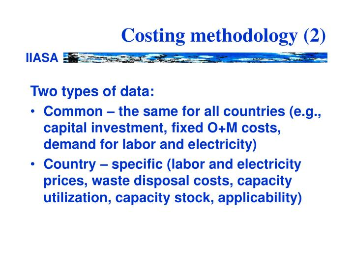 Costing methodology 2
