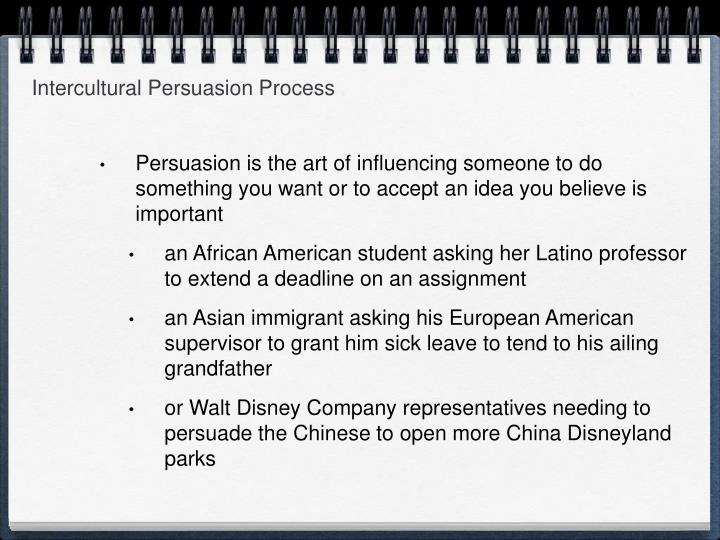 Intercultural Persuasion Process
