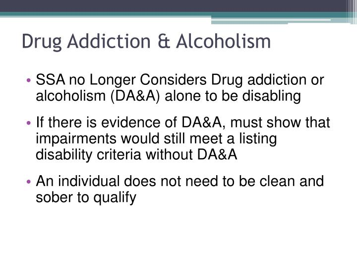 Drug Addiction & Alcoholism