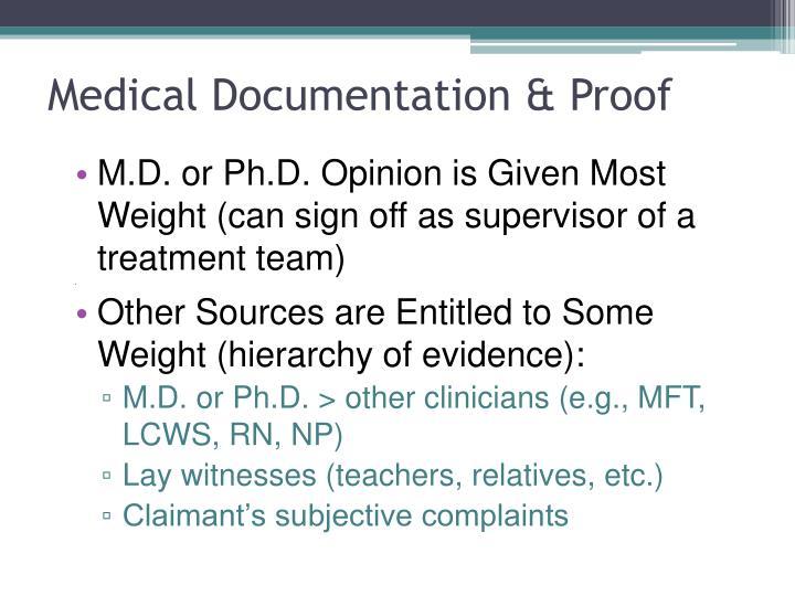 Medical Documentation & Proof