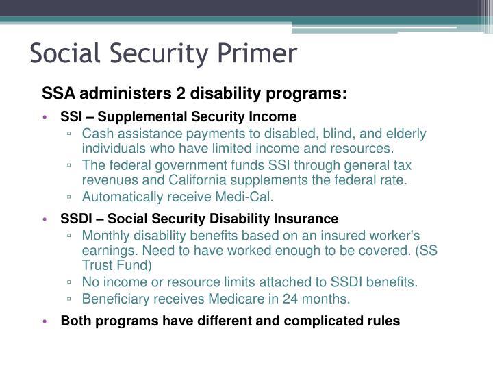 Social Security Primer