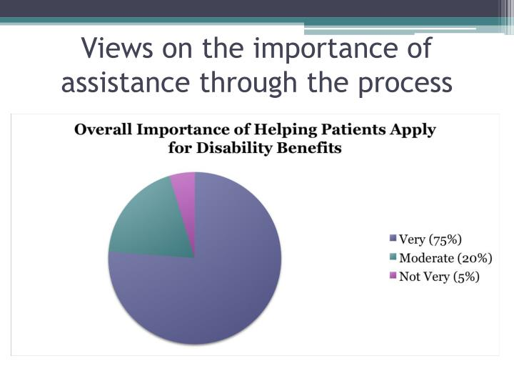 Views on the importance of assistance through the process