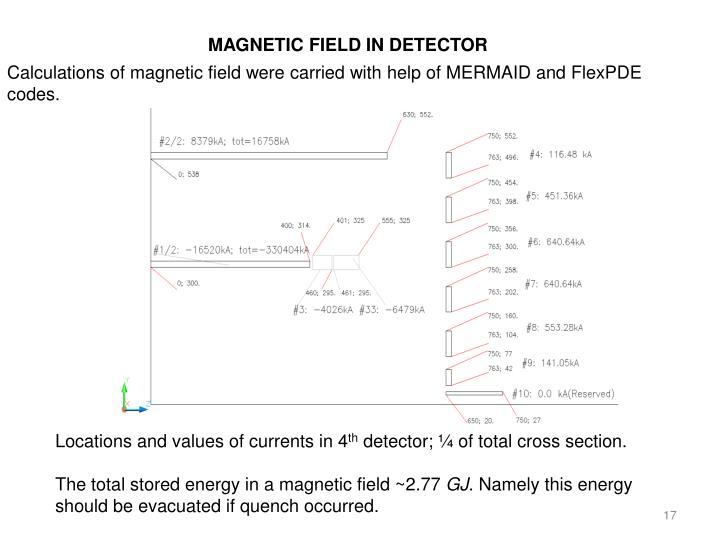 MAGNETIC FIELD IN DETECTOR