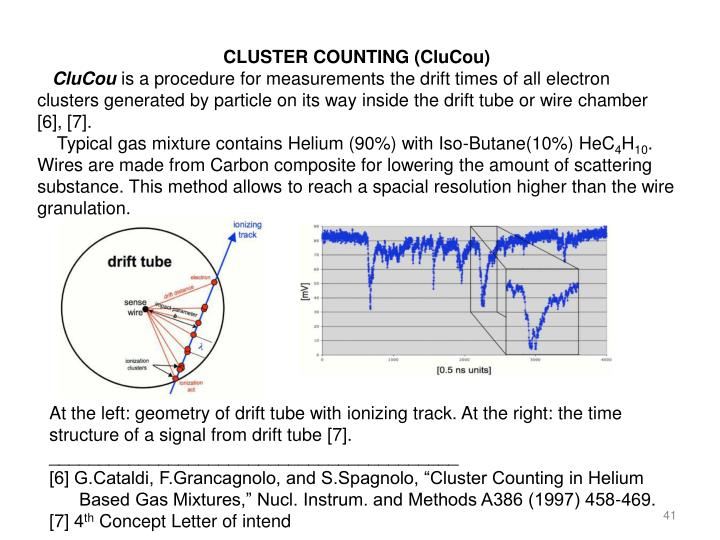 CLUSTER COUNTING (CluCou)
