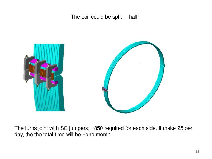 The coil could be split in half