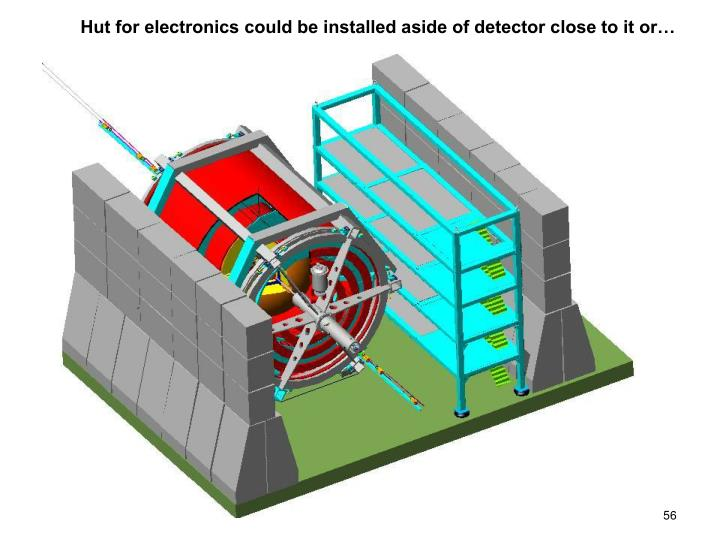 Hut for electronics could be installed aside of detector close to it or…
