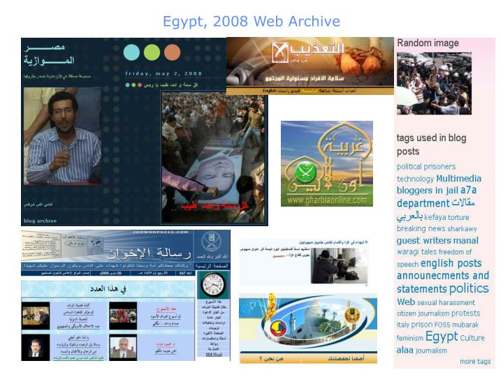 Egypt, 2008 Web Archive