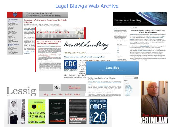 Legal Blawgs Web Archive