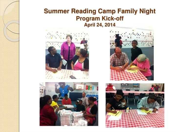 Summer Reading Camp Family Night