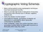 cryptographic voting schemes