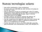 nuevas tecnolog as solares